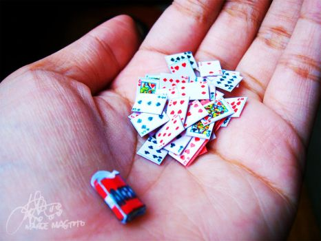Miniature Deck of Cards by margemagtoto