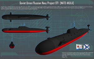 Soviet/Russian Akula Class SSN ortho [new] by unusualsuspex