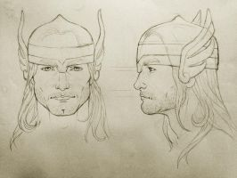 Thor - face sketch by cristianosuguitani