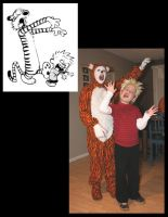 Calvin and Hobbes Cosplay 2008 by E-The-Zombie