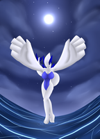 Lugia- Ocean's Guardian by oldanthropokemon
