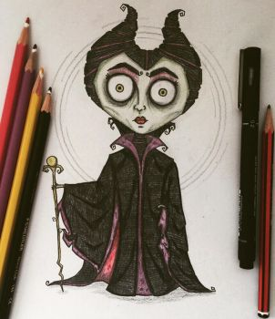 Maleficent in my style by november-ludgate