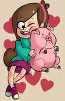 Mabel and Waddles by verrmont