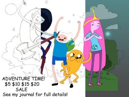 Adventure time SPECIAL SALE TO HELP FIGHT CANCER! by harusame