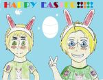 Happy Easter from America And England! by bleach-naruto-lover