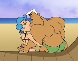 JxTF: Smooching around The Beach by Cookie-Lovey