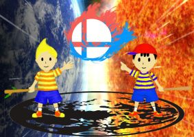Lucas and Ness by Tamashi-Kyomei