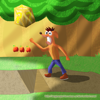 classic crash bandicoot by MegaSupertacoman-YT