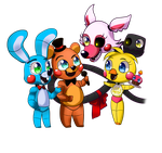 FNAF(chibi) - (GROUP CHIBI SAMPLE) by CattyMaddie