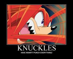 knuckles poster by Ink-tail