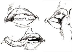 Lip Studies VII Inked by NezumiWorks