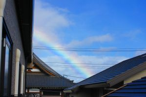 rainbow over the temple by rayna23