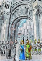 At the Gates of Minas Tirith by neral85