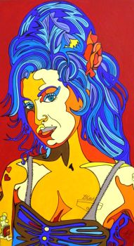 Amy Winehouse by Evilpainter