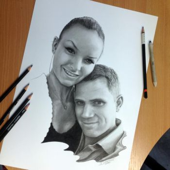 Pencil Portraits of my Friends by AtomiccircuS