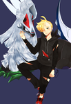 Gladion and Silvally by TannaCat
