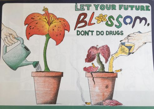 Anti-Drug picture for school. by improbableSpace