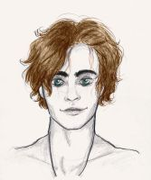 Finnick Odair (coloured portrait) by xxIgnisxx