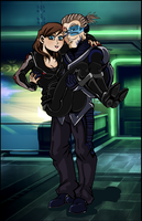 ME3: Garrus and Shepard - human version by Padzi