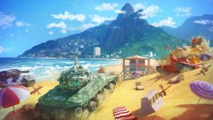 TankiX promotional artwork by Tohad