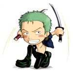 Chibi Zoro::One Piece by a3107