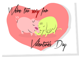 Tree Trunks and Mr. Pig Valentine by LaggyCreations