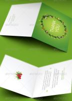 Christmas Ornament Thank You Card Template by loswl