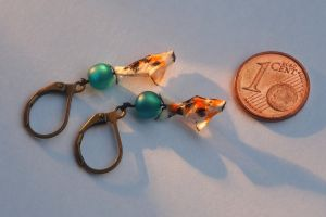 Origami Koi Fish Earrings by p4ndor4TheBox