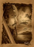 Captain Jack Sparrow by noot