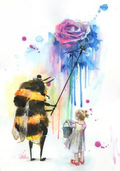 Mr BUMBLEBEE by lora-zombie