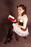 Steampunk reading by colorful-beauties
