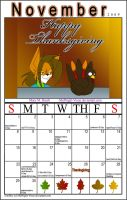 November Calender 2009 by MidNight-Vixen