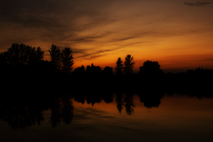 Sunset Over the Lake by AndrewFletcher