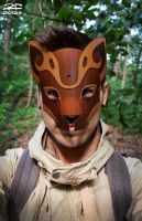 Forest Guardian Paper Mask by Pandaphobia