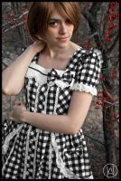 White gothic lolita by VallyBeffy