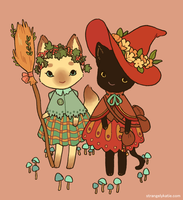 Witch Cats by strangelykatie