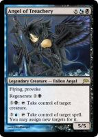 Angel of Treachery Magic Card by deathangel20