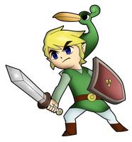 Recreation of Legend of Zelda's Link art by TrivialJohn