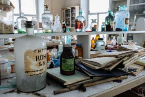 Abandoned chemical laboratory by dack99