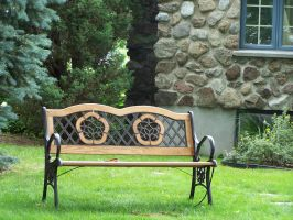 Countryside bench by Hermit-stock