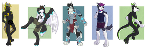 5 Full Body Commissions by DarkHunter666