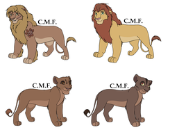 Lion characters for Comic by RivertailofRiverclan