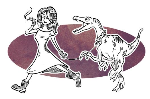 The Girl With The Dinosaur by TeaForOne