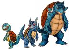Squirtle Family by Mbecks14