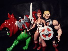 He-man Battle Armor, Battle-cat and Teela IV by ittoogami