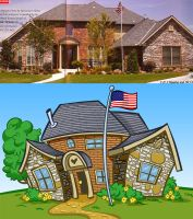 Caricature of a House by heckthor