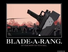 Blade-A-Rang Poster by Overlordflinx