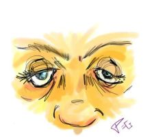 Simple Eyes and nose with color by Pegarissimo