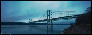 Tacoma Narrows Pano by pbredow
