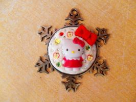 Hello Kitty Winter Snow Flake Decoden by NamineEveningLight